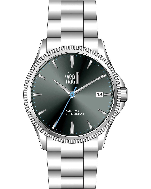 Ρολόι VISETTI Unico Silver Stainless Steel Bracelet - ZE-681SA ... 33089745738